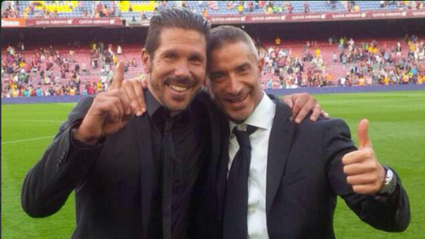 Possible target, Andrea Berta, with Diego Simeone | Photo via 101GreatGoals