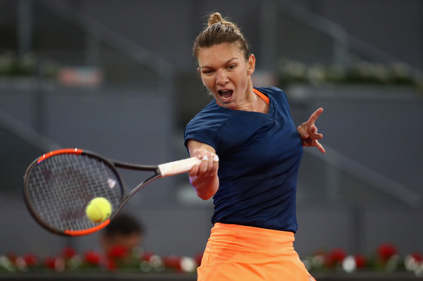 Halep is aiming for her third Premier Mandatory title in Madrid (Photo by Julian Finney / Getty Images)