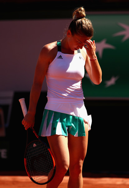 Simona Halep would have rued her missed break points in the fourth game of the second set, and that proved to be pivotal | Photo: Clive Brunskill/Getty Images Europe