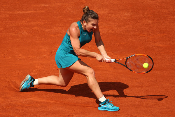 Halep in action during her second round victory (Getty/Clive Brunskill)