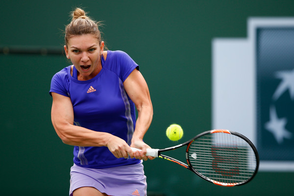 Simona Halep in her 2015 Indian Wells finals match against Jelena Jankovic | Photo: Julian Finney/Getty Images North America