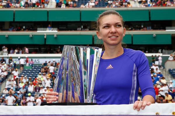 Simona Halep won the 2015 BNP Paribas Open./Photo: Julian Finney/Getty Images
