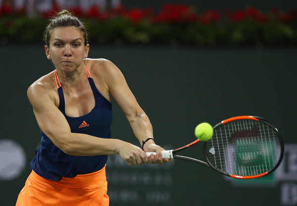 Simona Halep got off to a great start in Indian Wells; defeating Donna Vekic. However, she put in a lacklustre performance against Kristina Mladenovic in the next round | Photo: Clive Brunskill/Getty Images AsiaPac