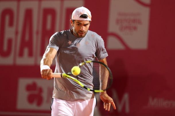 Simone Bolelli en route to the quarterfinals after defeating Federico Delbonis. (Photo by Millennium Estoril Open)