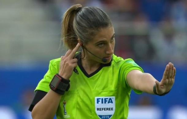 Laura Fortunato en el partido de Estados Unidos y Tailandia | Fuente:BBC Sport