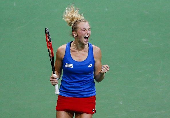 Siniakova batalhou para garantir mais um título ao seu país (Foto: Divulgação/WTA)