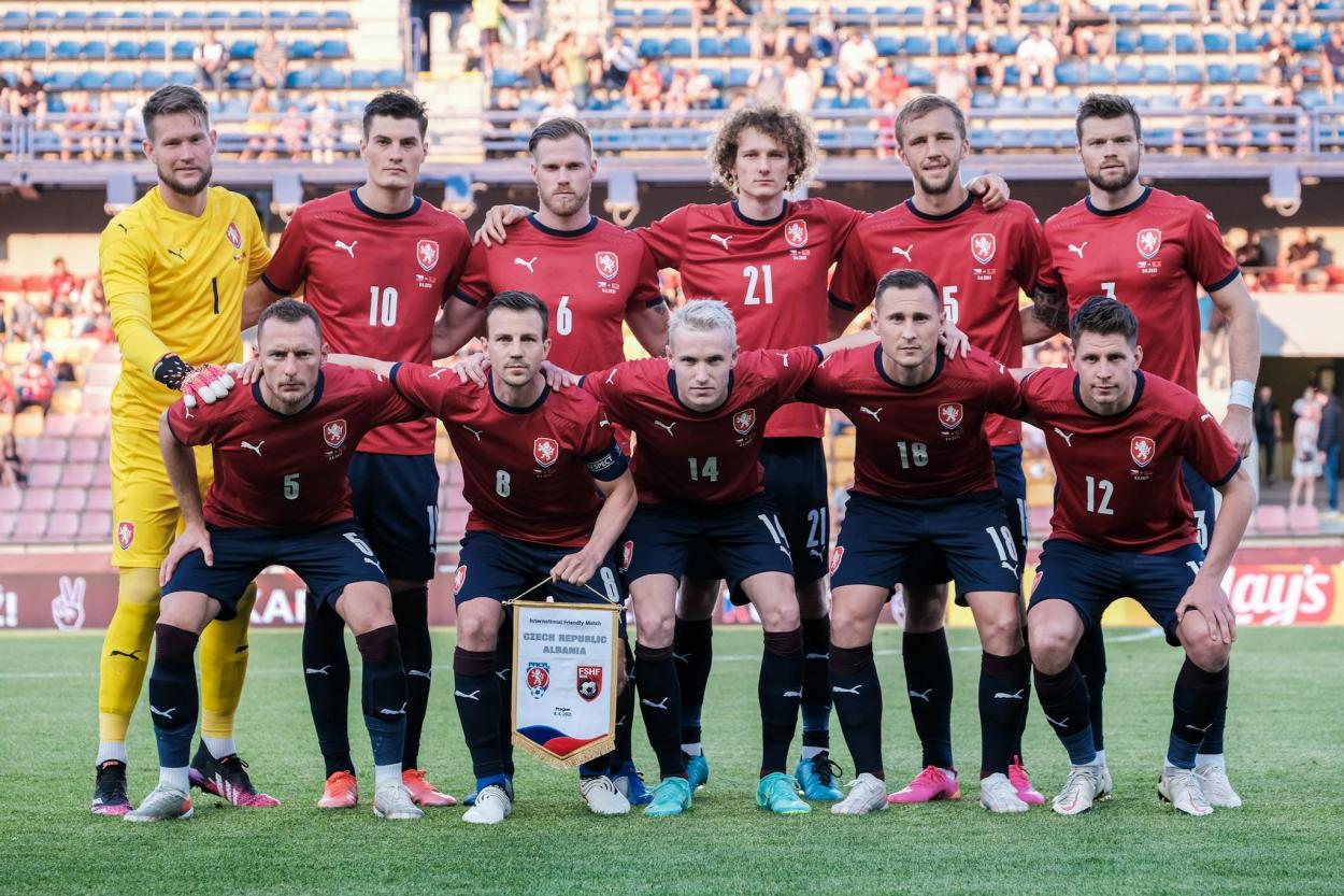Alineación de República Checa vs Albania   Imagen: @ceskarepre_eng