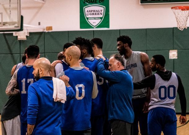 Uno de los últimos entrenamientos de los Sixers | Foto: Philadelphia 76ers