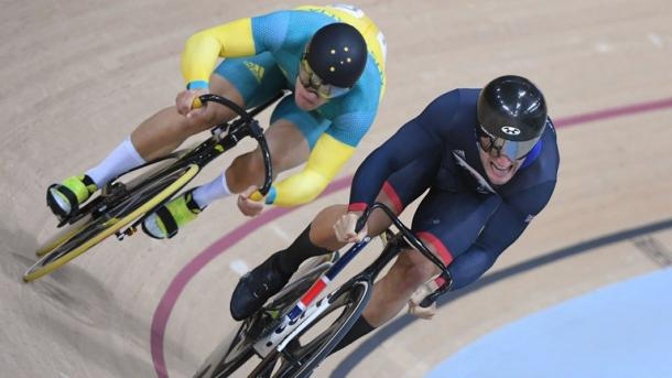 Skinner is so far unbeaten in the men's sprint, but will face compatriot Kenny in the final this evening / SkySports