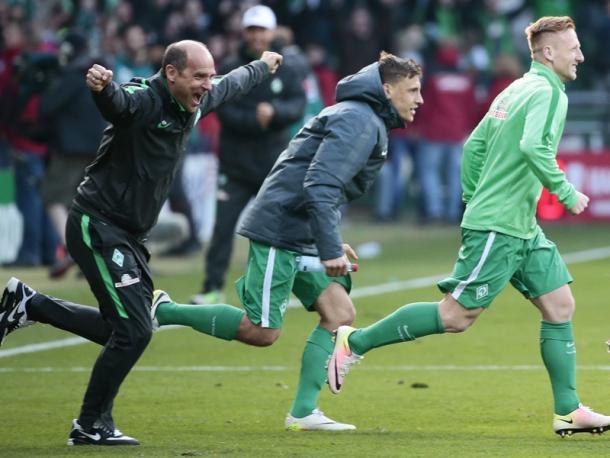 Skripnik celebrates. | Image source: kicker - Getty Images