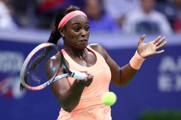 Sloane Stephens in action during her first ever US Open semifinal | Photo: Clive Brunskill/Getty Images North America