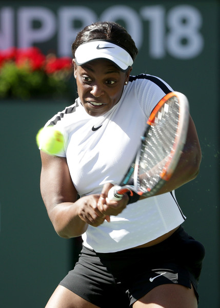 Sloane Stephens was in control for the majority of the match, although she faced some troubles in the second set | Photo: Jeff Gross/Getty Images North America