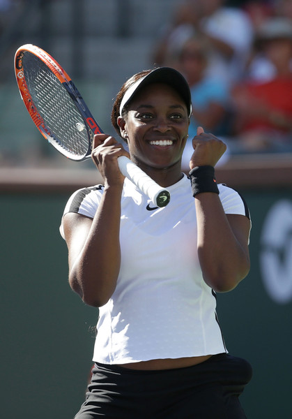 Sloane Stephens celebrates grabbing the confidence-boosting victory | Photo: Jeff Gross/Getty Images North America