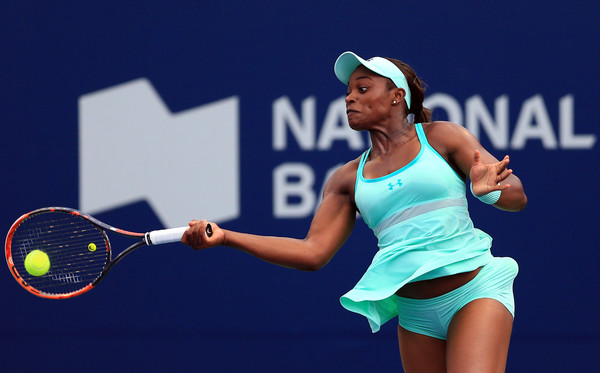 Sloane Stephens in action at the Rogers Cup, where she beat several quality opponents to reach the last four | Photo: Vaughn Ridley/Getty Images North America