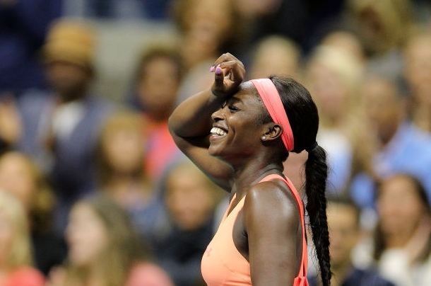 Photo: Tim Clayton/Corbis via Getty Images-Sloane Stephens elated after her semifinal victory.