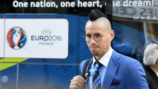 Hamsik, stella della Slovacchia, twitter @EURO2016