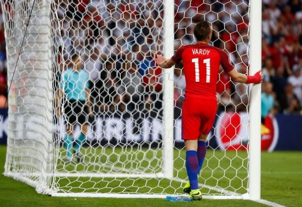 Jamie Vardy had the best chance of the first half (photo : Reuters)