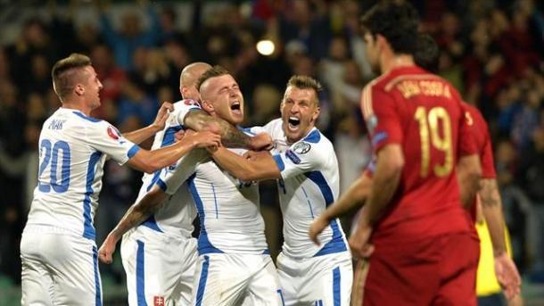 Kucka exulte après son but face à l'Espagne (Source: gettyimages)