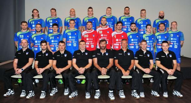 Selección eslovena. Foto: EHF.