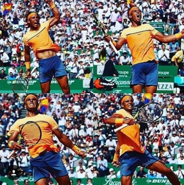 Soderling posted this collage of Rafael Nadal in Monte Carlo on instagram. Photo: Robin Soderling Instagram