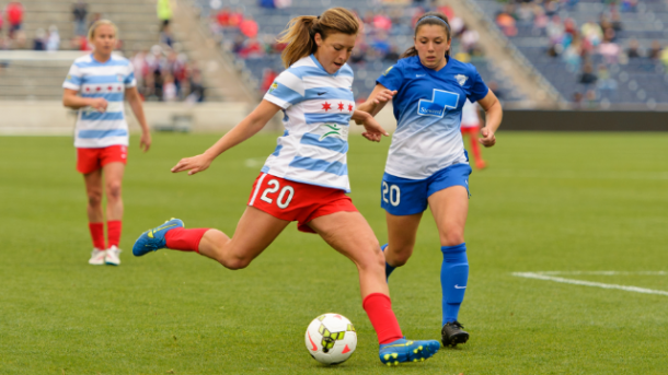 Sofia Huerta with the Chicago Red Stars (Photo courtesy of Chicago Red Stars)