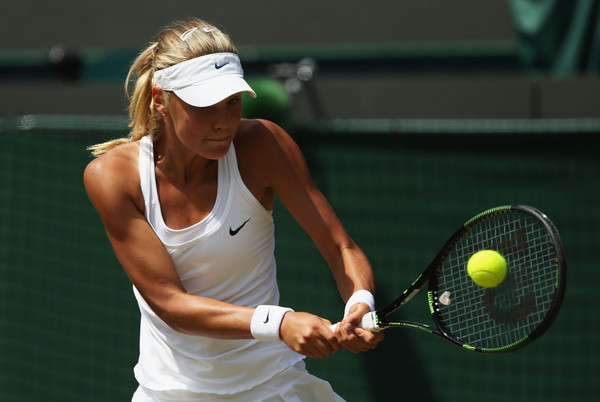 Sofya Zhuk was a former Wimbledon junior champion, and has now finally achieved some success at the senior level | Photo: Ian Walton/Getty Images Europe