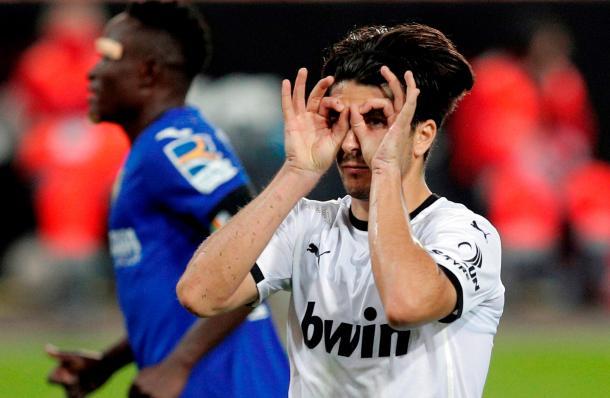 Soler celebrando el tanto al Getafe  //  Fuente: La Liga