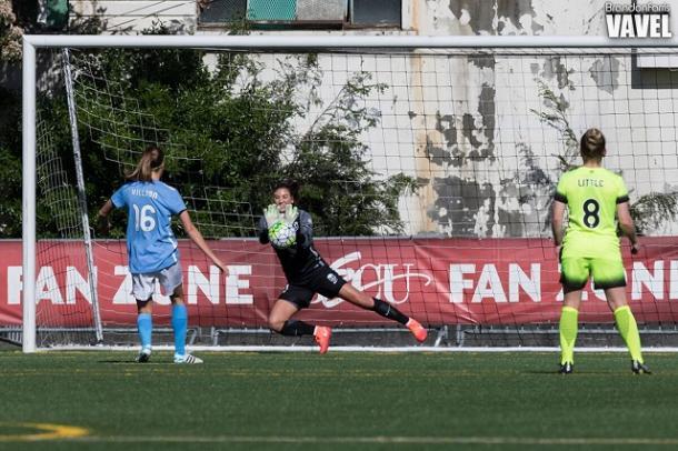 Hope Solo saves Sarah Killion's penalty attempt | Brandon Farris -VAVEL USA