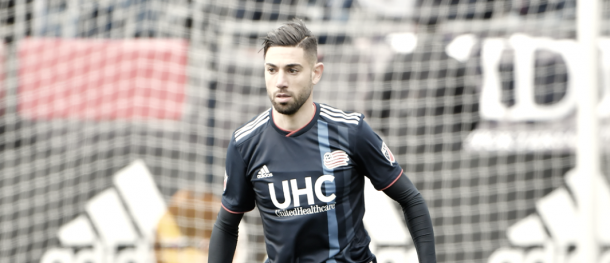 Gabriel Somi in his first home game | Photo: Keith Nordstrom - New England Revolution