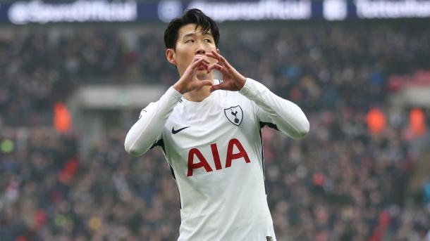 Son fez dois gols e foi elogiado por Pochettino (Foto: Reprodução/Tottenham Hostpur FC)
