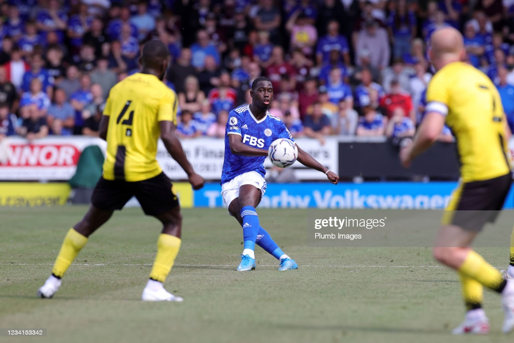 Boubakary Soumaré controlled the midfield well in his first Leicester game   Credit: Plumb Images   Getty Images
