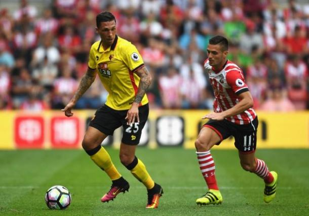 Jose Holebas in action against Southampton (Photo: Action Images)