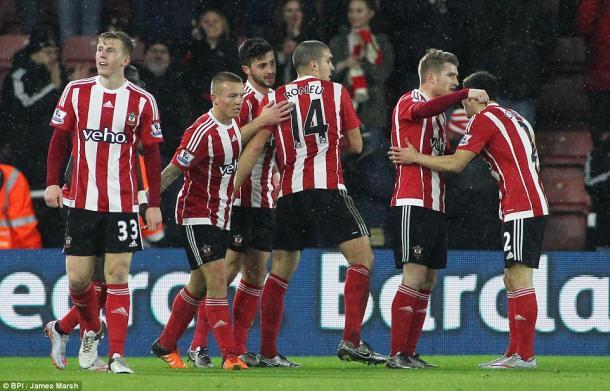 Los jugadores del Southampton celebran el segundo gol ante el Watford (Foto: BBC)