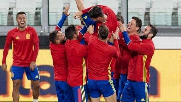 La Spagna ieri allo Juventus Stadium, torinotoday.it