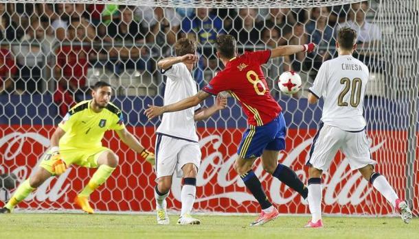 Saul, protagonista della semifinale contro l'Italia, gazzetta.it