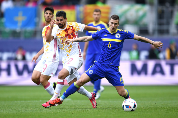 Bosnia gave Spain a real test even with ten men (photo: Getty Images)