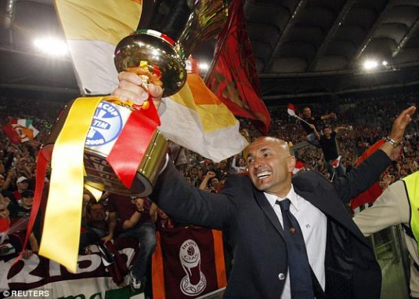 Spaletti lead Roma to Coppa Italia glory - there last trophy triumph (Photo: espn.co.uk