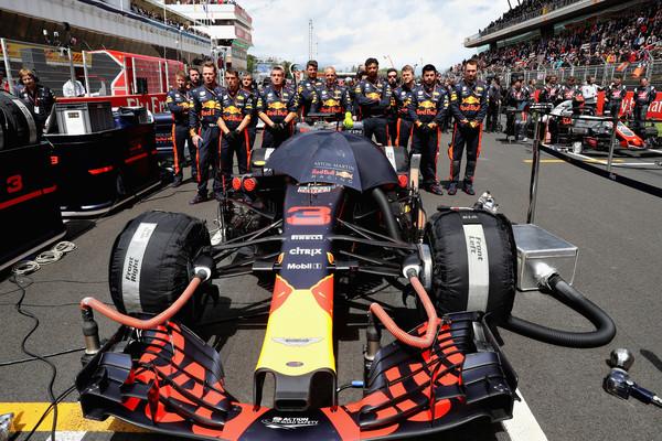 El coche de Ricciardo en la parrilla del GP de España   Foto: Getty Images Europe