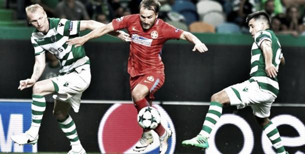 El Sporting superó al Olympiacos en Lisboa | Foto: UEFA.com