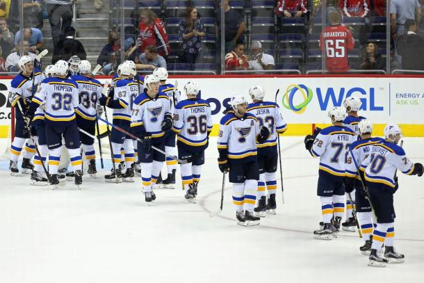 The St. Louis Blues who have never won a Cup are hoping to change that this season. (Photo:Geoff Burke-USA TODAY Sports