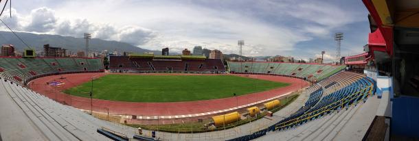 Este es el estadio Félix Capriles, en donde Jorge Wilstermann es local. Foto: Wikipedia.