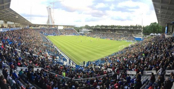 Stade Saputo durante un encuentro del Impact (impactmontreal.com)