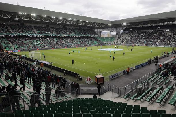 Stade Geoffroy-Guichard is known for its intense atmosphere and English style.
