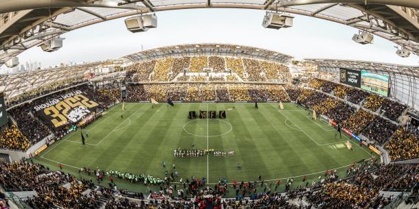 Banc of California Stadium en su estreno (lafc.com)