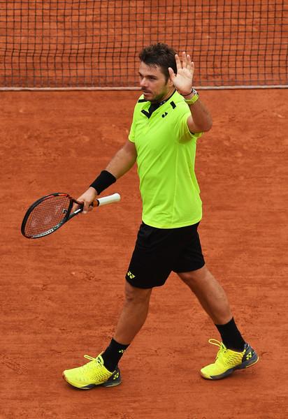 Wawrinka wins his quarterfinals in Paris. Photo:Dennis Grombkowski/Getty Images