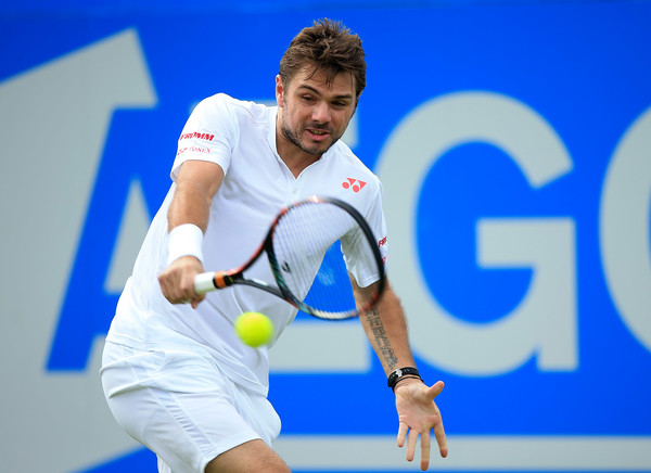 Stan Wawrinka in Aegon Championships action against Fernando Verdasco. Photo: Ben Hoskins/Getty Images