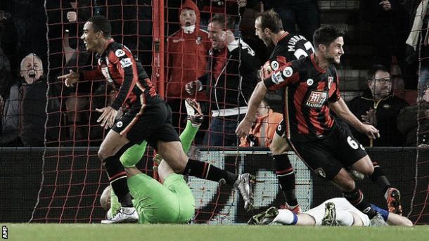 Junior Stanislas y sus compañeros celebrando el 3-3 definitivo   Foto: bbc.com
