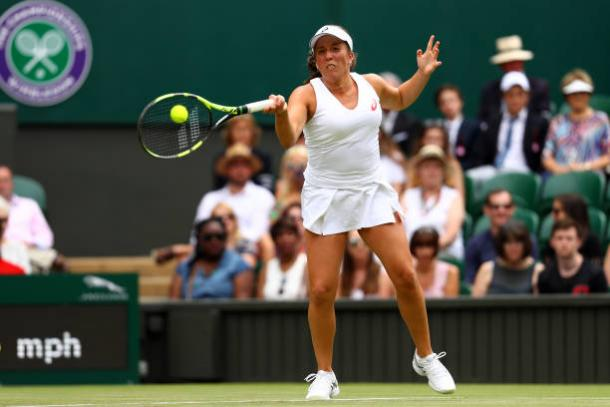 Irina Falconi tried her best but was just not good enough against the world number one (Getty/Michael Steele)