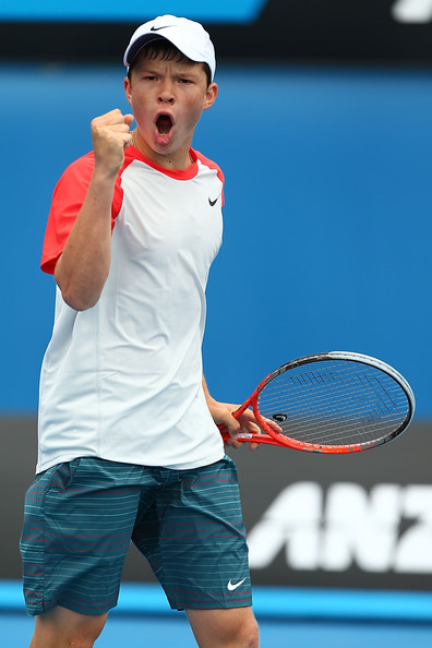 Stefan Kozlov pumps himself up. Photo: Robert Prezioso/Getty Images