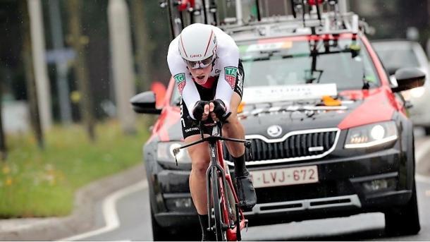 Stefan Küng, ganador de la crono. | Foto: BinckBank Tour